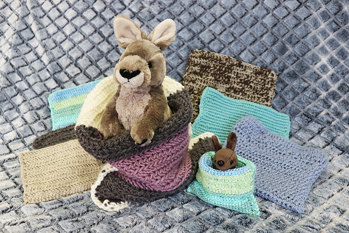 Handmade pouches for Australian relief efforts